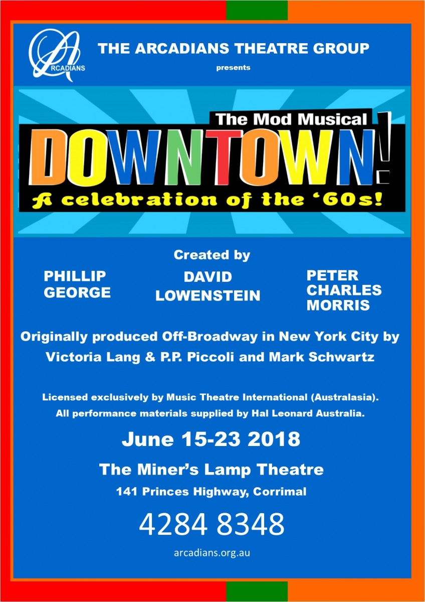 Downtown musical poster for website